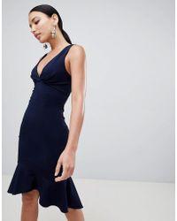 098527596d9b Praslin Plus Size Skater Dress With Striped Skirt in Blue - Lyst