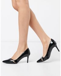 Call It Spring Stellas Pointed Mid Heel Court Shoes - Black