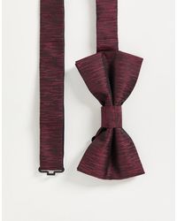 French Connection Plain Woven Bow Tie - Red