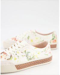 Fiorelli – Finley – Schnürschuhe mit Blumenmuster - Mehrfarbig