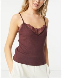 Abercrombie & Fitch Cozy Pajama Co-ord Shorts - Purple