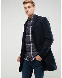 Esprit Wool Overcoat - Blue