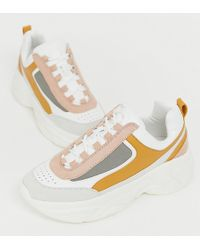 71733756ac9a Pull&Bear - Chunky Trainer In Multi - Lyst