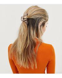 Glamorous Zebra Print Hair Claw - Brown