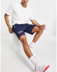 Tommy Hilfiger Shorts de chándal azul marino crepúsculo con logo Timeless de
