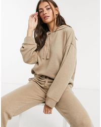 Mango Knitted Hoodie Co-ord - Natural