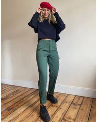 ASOS Combat - Pantaloni slim color kaki - Verde