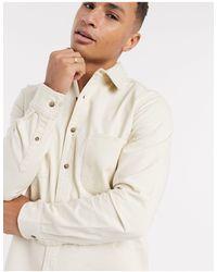 TOPMAN Twill Shirt - Natural