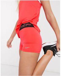 Nike Красные Шорты Длиной 3 Дюйма Nike Pro Training-красный