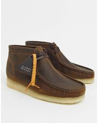Clarks – Wallabee – Stiefel aus bienengewachstem Leder - Braun