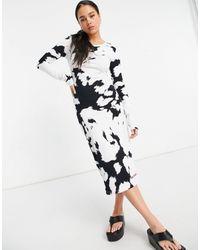 House of Holland Robe mi-longue imprimé vache - Multicolore