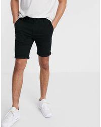 TOPMAN Skinny Chino Shorts - Black