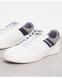 Jack & Jones Sneakers With Side Stripe Logo - White