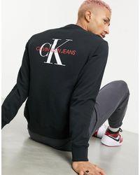 Calvin Klein Monogram Back Logo Sweatshirt - Black
