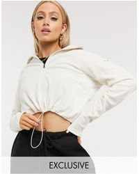 Columbia Белая Короткая Флисовая Куртка С Молнией 1/4 Эксклюзивно Для Asos-белый