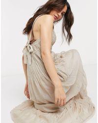 Free People Платье-трапеция Frankie В Цвете Песочный - Естественный