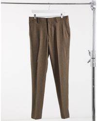 ASOS Wedding Skinny Wool Mix Suit Trousers - Multicolour