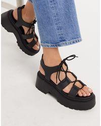 TOPSHOP Chunky Sandals - Black
