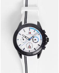 Tommy Hilfiger Мужские Часы С Белым Силиконовым Ремешком 1791862-белый