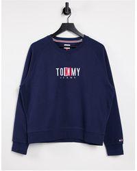 Tommy Hilfiger Felpa con logo blu navy