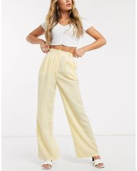 Ivyrevel High Waisted Wide Leg Pants - Yellow