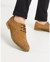 Redfoot Chaussures richelieu en daim à lacets - Châtaigne - Marron