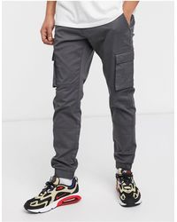Only & Sons Slim Fit Cargo With Cuffed Bottom - Gray