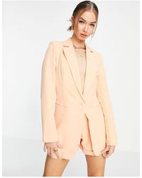 UNIQUE21 Tailored Single Button Blazer - Pink