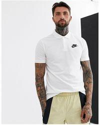 Nike - Polo bianca - Lyst