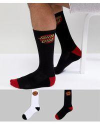 Santa Cruz - Classic Dot 2 Pack Socks - Lyst