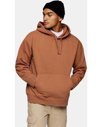 TOPMAN Oversized Hoodie - Brown