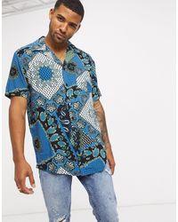 Liquor N Poker Co-ord Revere Shirt - Blue