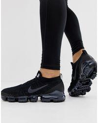 Nike Черные Кроссовки Vapormax Flyknit 3.0-черный