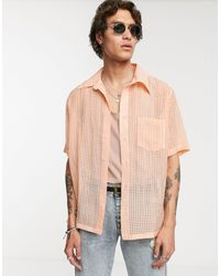 Heart & Dagger In Sheer Burnout Fabric In Orange