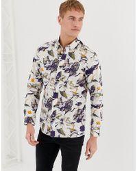 SELECTED - Regular-fit Overhemd Met Print - Lyst