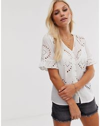 Y.A.S Broderie Anglais Top - White