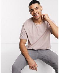 ASOS Ruimvallend T-shirt Lage Onafgewerkte Rand - Meerkleurig