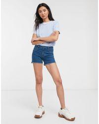 ONLY – Sun – Abgeschnittene Jeansshorts - Blau