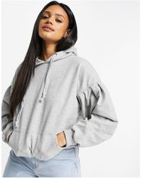 I Saw It First Hoodie à manches bouffantes - Gris