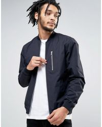 Esprit - Lightweight Bomber Jacket With Chest Pocket - Lyst
