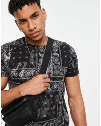 Hollister Camiseta negra con estampado - Negro