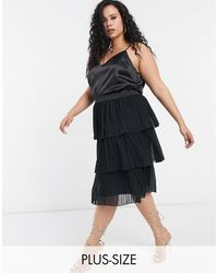 Simply Be Tiered Skirt - Black