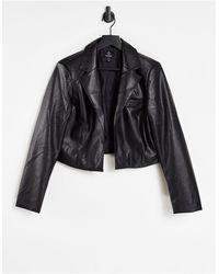 Threadbare Gigi Pu Cropped Blazer - Black