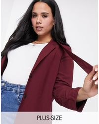 Simply Be Cut Out Back Blazer - Multicolour