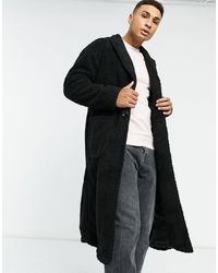Another Influence Longline Sherpa Coat - Black