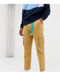 Collusion Skater Fit Cargo Pants In Tan - Brown