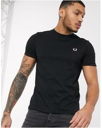 Fred Perry Ringer - T-shirt nera - Nero