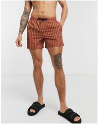 Another Influence Vertical Stripe Swim Shorts - Multicolour