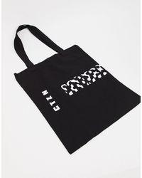 ASOS Tote bag épais à imprimé graphique - Noir