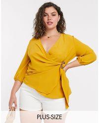 Simply Be Желтая Блузка С Пряжкой -желтый